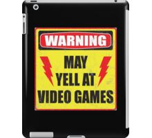 Gamer Warning iPad Case/Skin