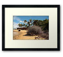 Lagoon Beach Framed Print