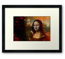 The Mona in Me Framed Print
