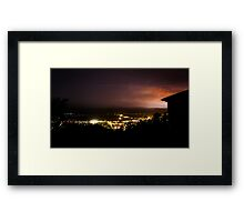 Launceston lightning Framed Print