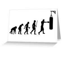 Boxing Evolution of Man Shirt Greeting Card