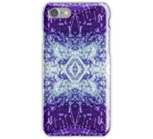 Frozen flower macro kaleidoscope, 1 iPhone Case/Skin
