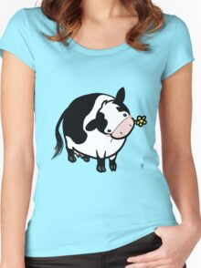 Dairy Cow Women's Fitted Scoop T-Shirt