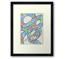 Water and Earth Zentangle Dragon Framed Print