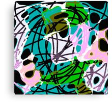 Tropical colors abstract Scribble art Canvas Print