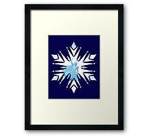 Frozen - Anna Saves Elsa Snowflake Design Framed Print