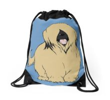 Briard - Yes, I have eyes Drawstring Bag