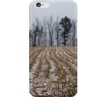 Snowy Winter Cornfields iPhone Case/Skin