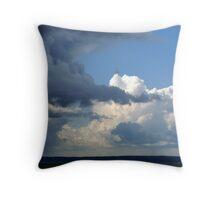 Turbulent Skies Throw Pillow