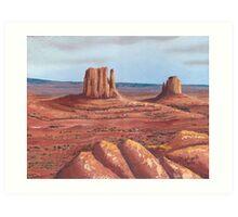 The Mittens ~Tse'Bii'Ndzisgaii ~ Southwest Landscape Art Print