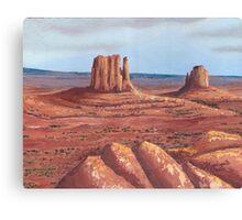 The Mittens ~Tse'Bii'Ndzisgaii ~ Southwest Landscape Canvas Print