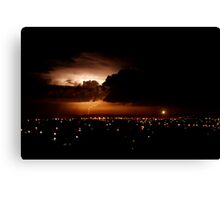 Another lightning shot - Perth, Western Australia (24-3-2010) Canvas Print