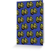 Avocado - Blue Greeting Card