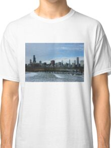 Wintry Windy City Skyline - Chicago, Illinois, USA Classic T-Shirt