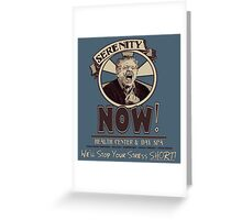 Serenity NOW Health Center & Day Spa Greeting Card