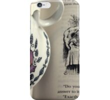 A Little Tea and Reading (Art Print)  iPhone Case/Skin