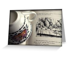 A Little Tea and Reading (Art Print)  Greeting Card