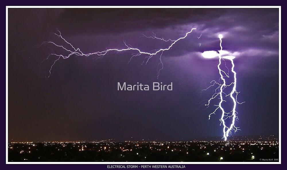 Electrical Storm - Perth, Western Australia by Marita Bird