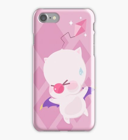 Mog Throw (Pink) iPhone Case/Skin