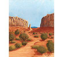 Amazing Views ~ Southwest Landscape ~ Oil Painting Photographic Print