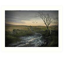 Cumbria muddy way Art Print