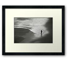 Solitude on beach Framed Print