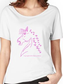 Save A Horse, Free A Spirit Women's Relaxed Fit T-Shirt