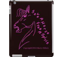 Save A Horse, Free A Spirit iPad Case/Skin