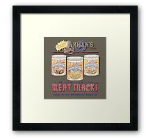 Khan's Brand Meat Snacks Framed Print