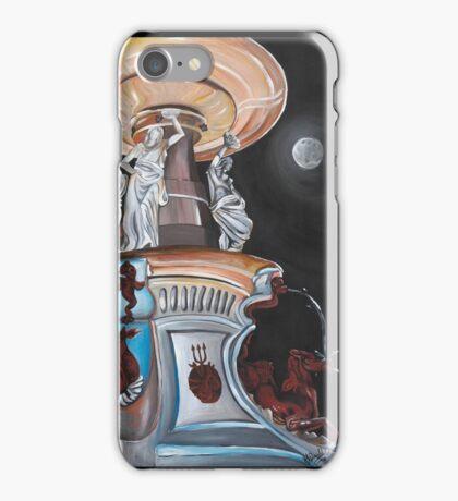 Moonlit Bendigo Fountain iPhone Case/Skin