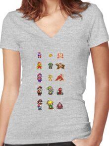 Nintendo Women's Fitted V-Neck T-Shirt
