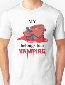 My Heart Belongs To A Vampire T-Shirt