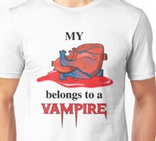 My Heart Belongs To A Vampire Unisex T-Shirt