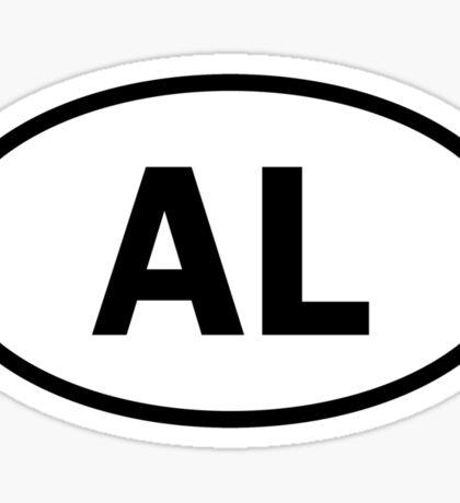Alabama - AL - oval sticker Sticker