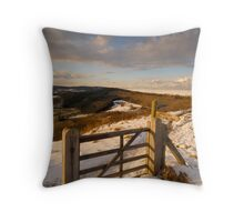 Cleveland Way, Sutton Bank, North Yorkshire Moors Throw Pillow