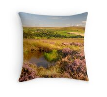 Westerdale, North Yorkshire Moors Throw Pillow