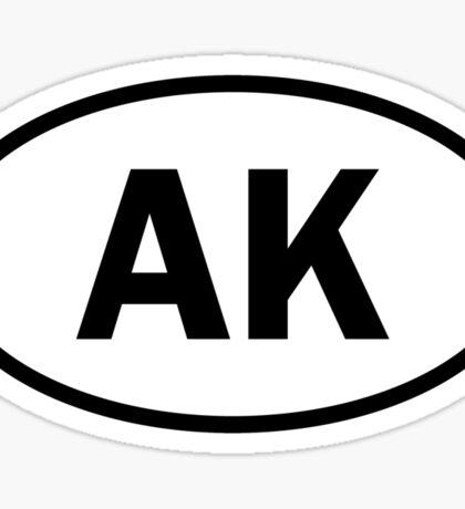 Alaska - AK - oval sticker Sticker