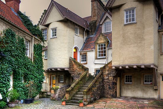 The Steps in White Horse Close by Tom Gomez