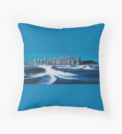 Boat View - Gold Coast Throw Pillow