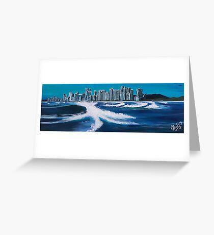 Boat View - Gold Coast Greeting Card