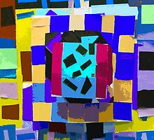 """""""Paper Geometry Layers""""© by Lisa Clark for Thinker Collection - STEM Art"""