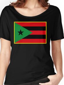 Afro Puerto Rican Flag Women's Relaxed Fit T-Shirt