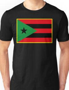 Afro Puerto Rican Flag Unisex T-Shirt