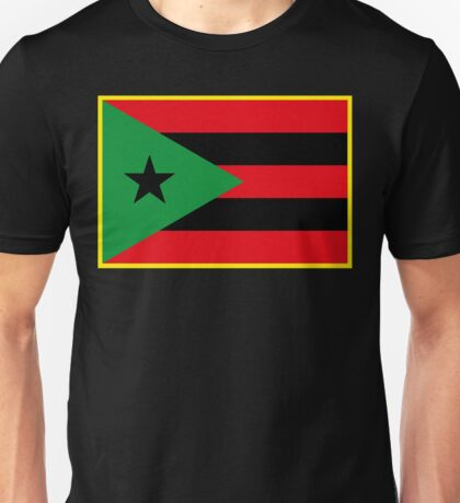 Afro Puerto Rican Flag Unisex T-Shirt