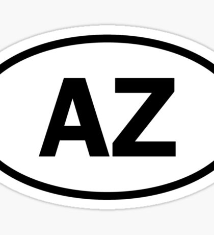 Arizona - AZ - oval sticker Sticker