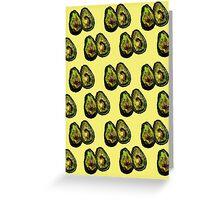 Avocado - Yellow Greeting Card
