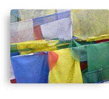 Colored buddhist prayer flags Canvas Print