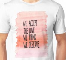 The Perks Of Being A WallFlower Quote Unisex T-Shirt