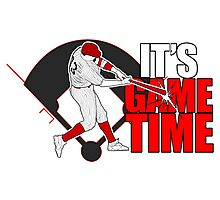 It's Game Time - Baseball (Red) Photographic Print