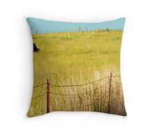 Knee Deep in Grass Throw Pillow